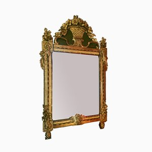 Antique Floral Decorated Mirror