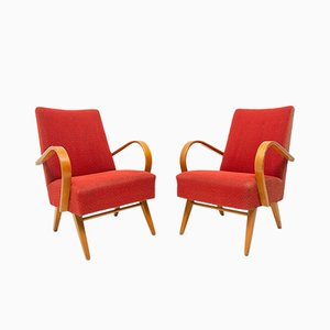 Lounge Chairs by Jaroslav Smidek, 1960s, Set of 2