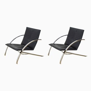 Model Arco Armchairs by Paul Tuttle for Strässle, 1980s, Set of 2