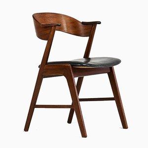 Silla de escritorio modelo 32 de palisandro de Kai Kristiansen para Korup Stolefabrik, años 60