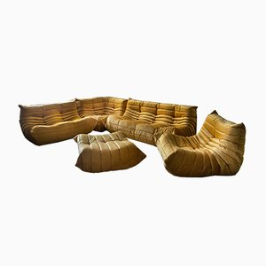Togo Living Room Set by Michel Ducaroy for Ligne Roset, 1979, Set of 5