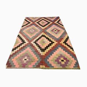 Large Vintage Turkish Wool Kilim Rug, 1950s
