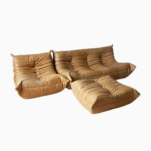 Togo Living Room Set by Michel Ducaroy for Ligne Roset, 1990s, Set of 3