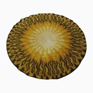 Tappeto rotondo Mid-Century in lana, Danimarca, anni '70