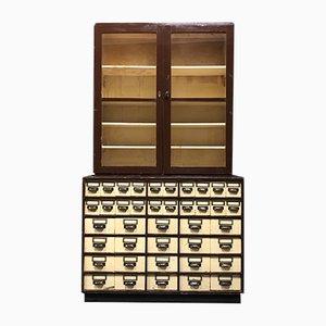 Mueble de farmacia alemán vintage, años 40