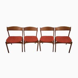 Chaises de Salle à Manger par Erik Buch pour Oddense Maskinsnedkeri / OD Møbler, années 60, Set de 4