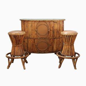 Tavolo da bar con sgabelli, anni '60