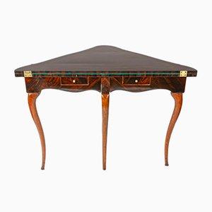 Mesa de juegos antigua de palisandro