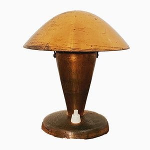 Copper Table Lamp by Josef Hurka for Napako, 1930s