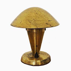 Lampe de Bureau en Laiton par Josef Hurka pour Napako, années 30