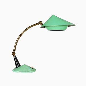 Vintage Italian Brass Adjustable Table Lamp, 1950s