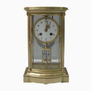 Antique French Brass Mantel Clock from Japy Frères, 1890s
