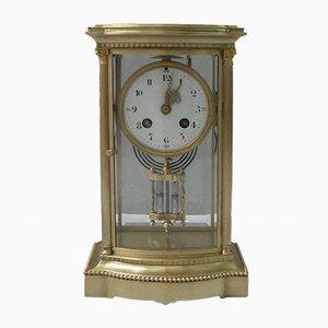Reloj de repisa francés antiguo de latón de Japy Frères, década de 1890