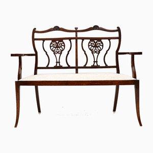 Antique Mahogany 2-Seater Settee