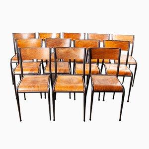 Chaises de Salle à Manger Vintage de Mullca, France, années 50, Set de 24