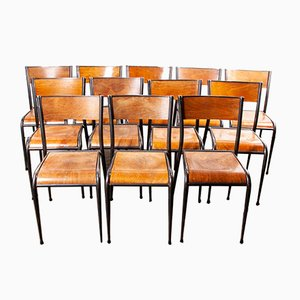 Französische Vintage Esszimmerstühle von Mullca, 1950er, 24er Set