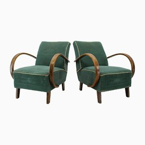Armchairs by Jindřich Halabala, 1950s, Set of 2