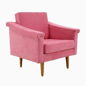 Pinker Mid-Century Sessel, 1960er