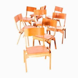 Stacking Dining Chair by Stafford for Tecta, 1950s, Set of 8
