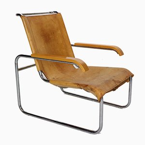 Leather Model B35 Armchair by Marcel Breuer for Thonet, 1930s