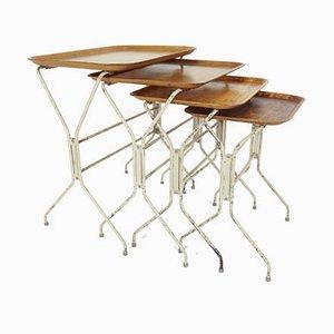 Tables Gigognes en Contreplaqué par Lena Larsson pour Nordiska, années 50