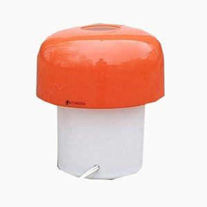 Lampe de Bureau Champignon Orange Vintage par Massoni & Bottura pour Guzzini, Italie, années 70