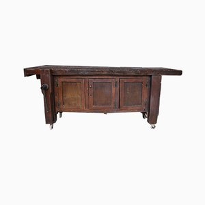 Mesa de trabajo francesa antigua