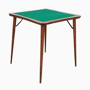 Table de Poker Mid-Century Pliable en Noyer, Italie, années 60