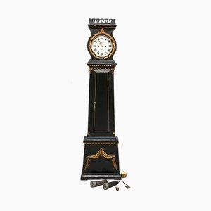 Antike Uhr aus bronziertem Holz von Bornholm, 1830er