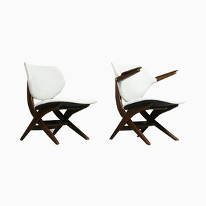 Mid-Century Model Pelican Lounge Chairs by Louis van Teeffelen for WéBé, Set of 2