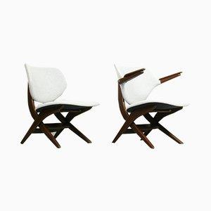 Mid-Century Modell Pelican Sessel von Louis van Teeffelen für WéBé, 2er Set