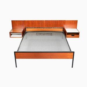 Mid-Century Kopfteil & Bett Set von Cees Braakman für Pastoe