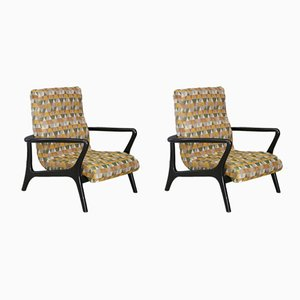 Mid-Century American Lounge Chairs, 1950s, Set of 2