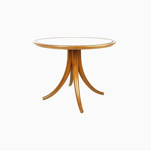 Couchtisch aus Holz mit Tischplatte aus Spiegelglas von Pietro Chiesa für Fontana Arte, 1930er