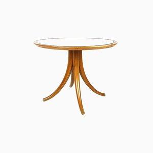 Table Basse en Verre Miroité et Bois par Pietro Chiesa pour Fontana Arte, années 30