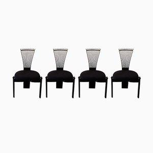 Scandinavian Totem Chairs by Torstien Nilsen for Westnofa, 1980s, Set of 4