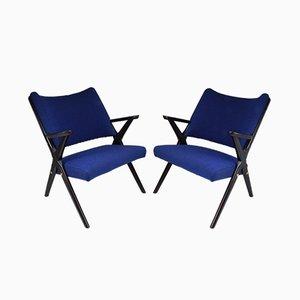 Italienische Mid-Century Stühle von Dal Vera, 2er Set