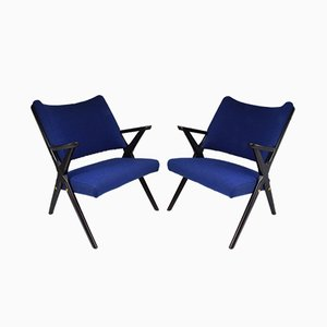 Mid-Century Italian Armchairs by Dal Vera, Set of 2