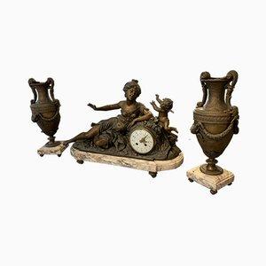 Antikes Uhr Set von Louis et François Moreau