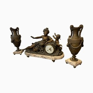 Antique Clock Set from Louis et François Moreau