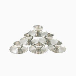 Mid-Century Stainless Steel Egg Cups from Polaris, Set of 6
