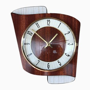 Mid-Century Formica Wall Clock from Junghans