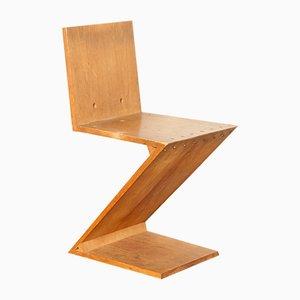 Zig-Zag Beistellstuhl von Gerrit Rietveld für Metz & Co, 1950er