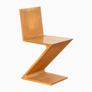 Silla auxiliar Zig-Zag de Gerrit Rietveld para Metz & Co, años 50