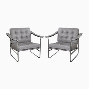 Mid-Century Model HE 113 Lounge Chairs by Hans Eichenberger for de Sede, Set of 2