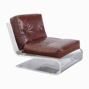Vintage Lucite Lounge Chair by Jacques Charpentier for Editions Charpentier Paris
