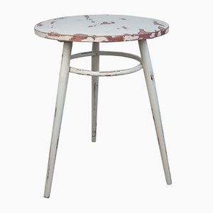 19th Century Rustic Swedish Pinewood Round Side Table