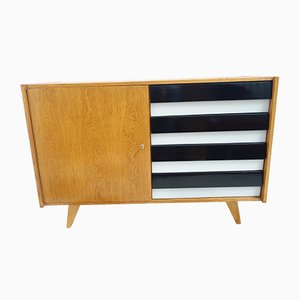 Black and White Sideboard by Jiří Jiroutek for Interier Praha, 1960s