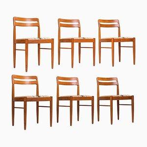 Dänische Mid-Century Esszimmerstühle aus Teak von H.W. Klein für Bramin, 1980er, 6er Set