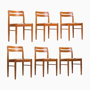 Mid-Century Danish Teak Dining Chairs by H. W. Klein for Bramin, 1980s, Set of 6